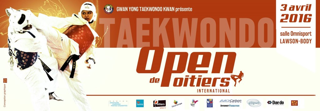 Bannière de l'open de taekwondo international de Poitiers (86)