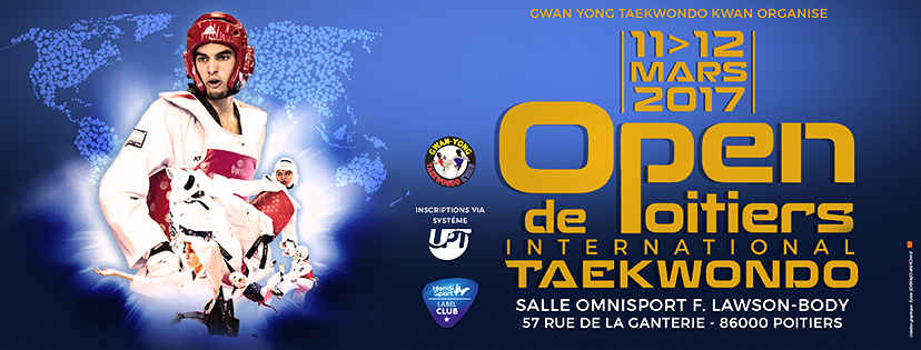 Bannière open international de taekwondo de Poitiers 2016-2017