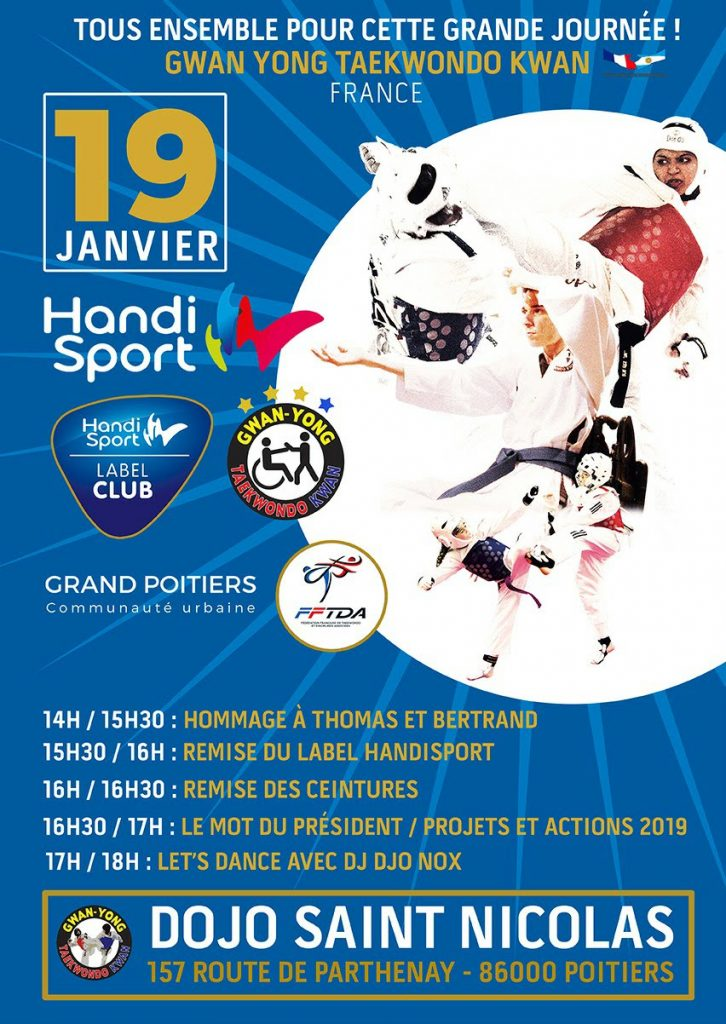 Gwanyong Taekwondo Poitiers (86) - Remise des ceintures, mot du président...